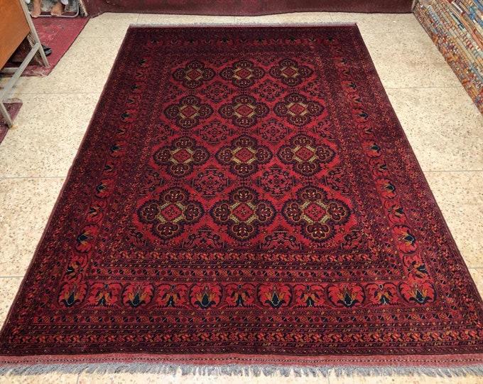 7x10 ft Free Shipping Afghan Rug Khalmohamade oriental Wool Rug persian rug baluch Rug Torkmen rug kilim Rug moroccan rug oushak rug design
