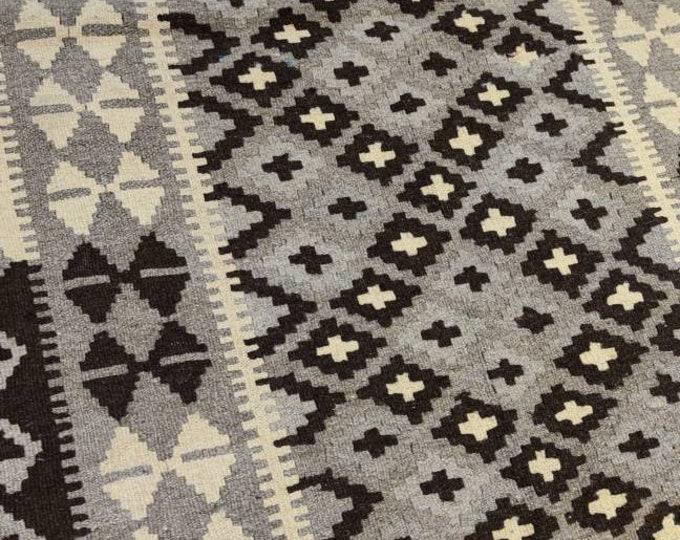 3.2x6.4 Ft  Beautiful Handmade Fedad Afghan Kilim Rug, 100% Wool Kilim Rug, Afghan Rug, Vintage Rug, Turkish kilim rug