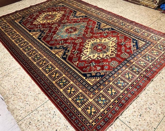 """Afghan Kazak super fine Handmade Kazak Area Rug 6'65"""" X 9'76"""""""