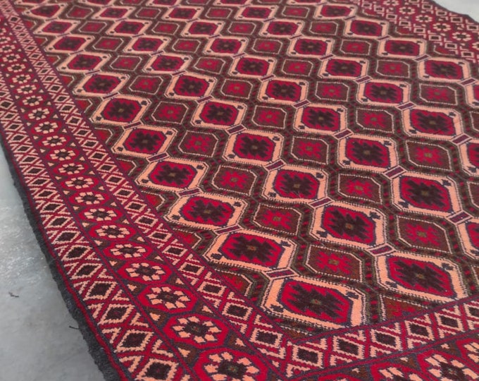 4x7 Afghan rug,  nursery decor, persian rug, bathroom rug, small rug, nomadic rug, navajo rug, bedroom rug, vintage rug, turkish rug, carpet