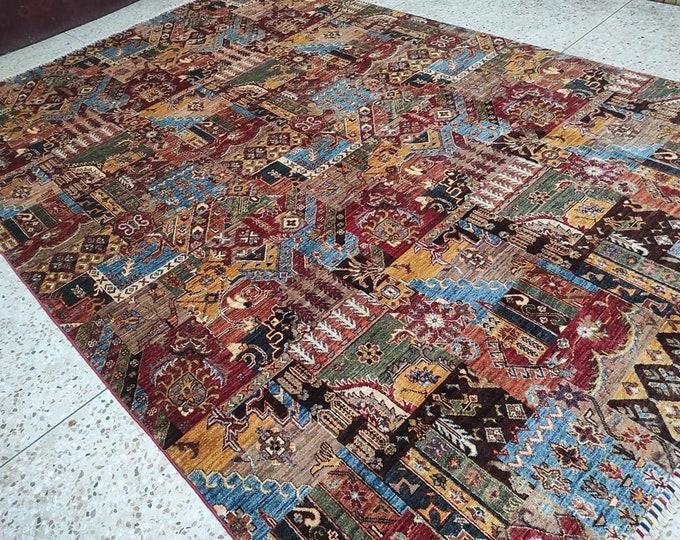 7x10 medallion area rug, southwestern rug, shag rug, bokhara rug, nursery decor, sumak rug, wool rug, large floor rugs, turkey rug, jute rug