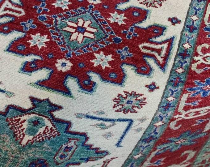 Kazak Rug 2.10X3.11 Ft Afghan Caucasian Rug | Area Rug Large | Vintage Rug | Afghan rug | Persian rugs | Turkmen rug | kilim rugs