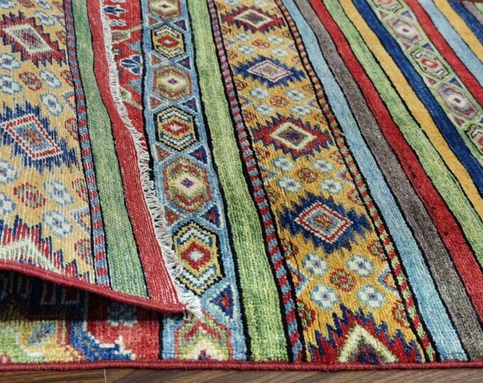 Runner rug Kazak Rug 2.9X9.9 Ft Afghan Caucasian Rug | Area Rug Large | Vintage Rug | Afghan rug | Persian rugs | Turkmen rug | kilim rugs