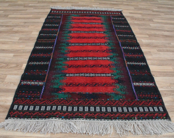 Runner Rug Well-made Afghan Kilim Rug, Afghan Sumak Rug, Wool Area Rug, Handmade Afghan Tribal kilim Rug, Home Decor Rug, Afghan Teppich Rug