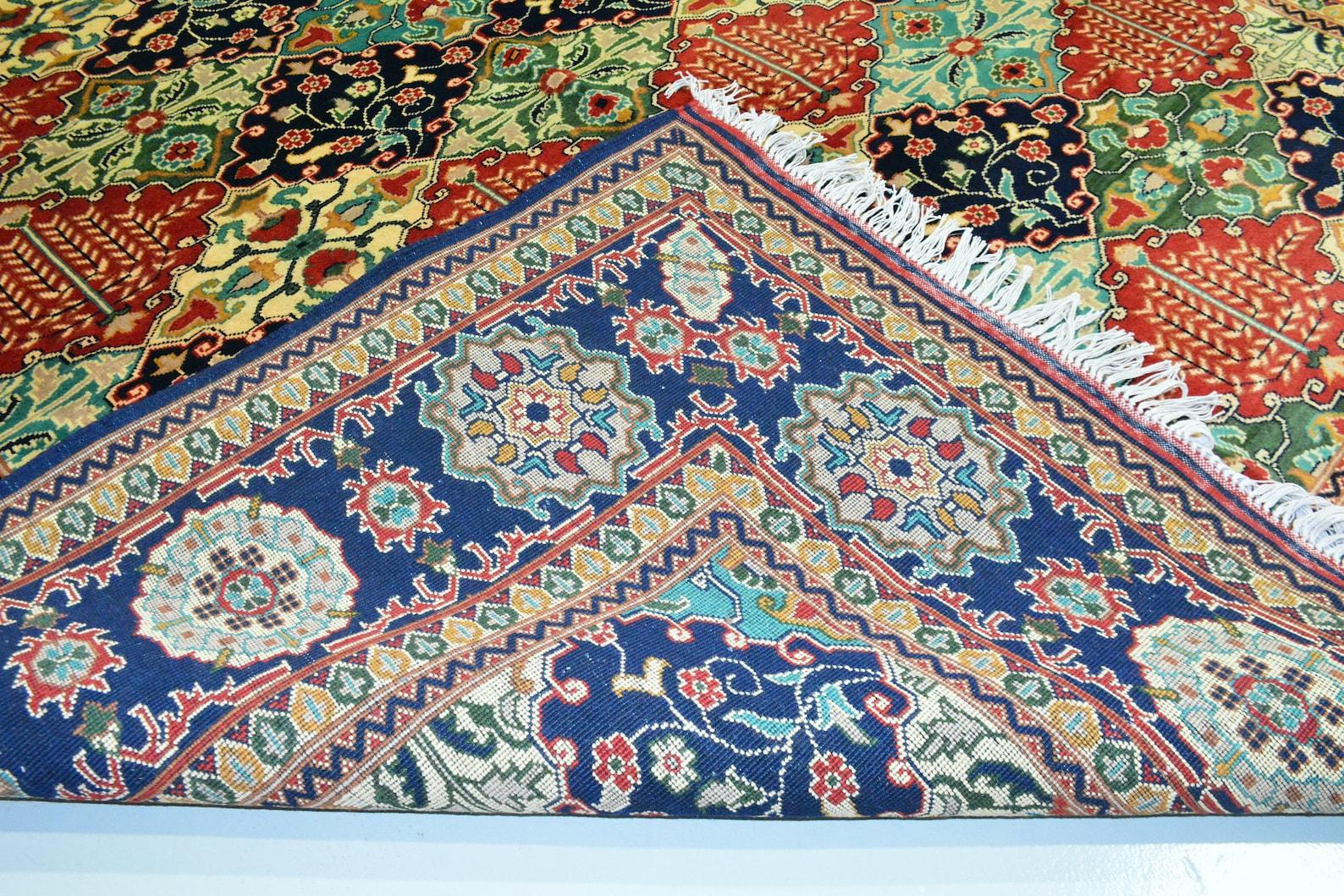 Living Room Size Merinos Afghan Handmade Rug Made with ...