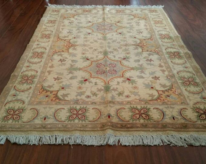 High quality Double Knotted Chobe rug Soft with Vibrant Colors, Hand-Knotted antique Persian design rug, Area Rug, Ziegler Turkish rug
