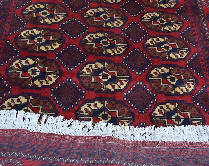 Khalmohamadi Rug / Afghan Rug / Bokhara Rug / Kilim Rug / 5x7 feet rug / Blue Rug / Floor Rug / Area Rug, Rustic Rug, Woven Rug, Carpet,