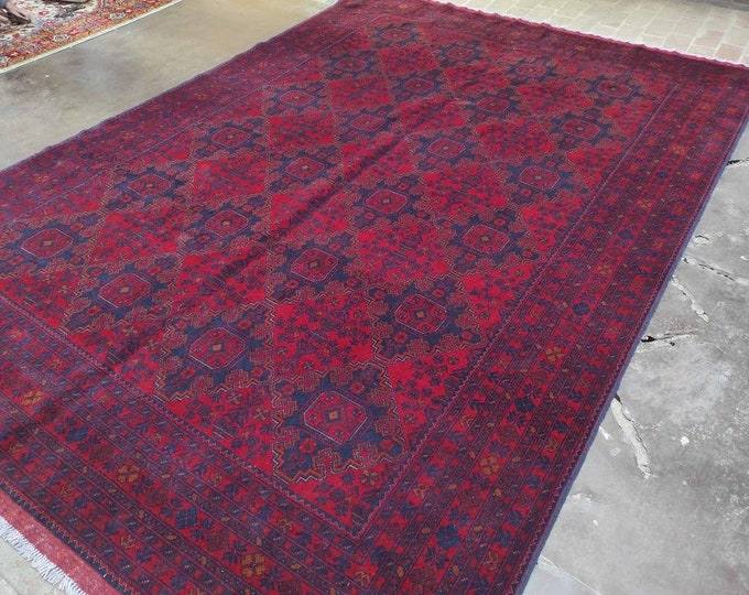 8X11 Ft Brand New  Handmade Afghan Khal Mohammadi rug, large red area rug, tribal rug, red persian carpet, Living room red rug
