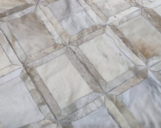 Handmade cowhide  5'9X8'11 Ft leather rugs from Egypt - Patchwork rugs carpet cowhide rug, Living Room Bedroom Decoration Real Leather Rug