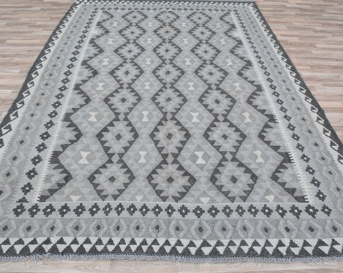 Soft Well-made Afghan Maimana Faded Rug for Living room Kitchen Carpet Flat Woven Kilim Rug Handwoven Flat woven Kilim Rug