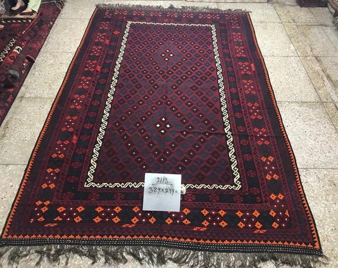 Kilim, Area kilim, Afghan kilim, Maimana kilim, Tribal kilim, Oriental kilim, Wool kilim, Handmade Kilim,  oriental rug, floor rug