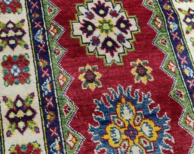 Kazak Rug 2.6X4.6 Ft Afghan Caucasian Rug | Area Rug Large | Vintage Rug | Afghan rug | Persian rugs | Turkmen rug | kilim rugs