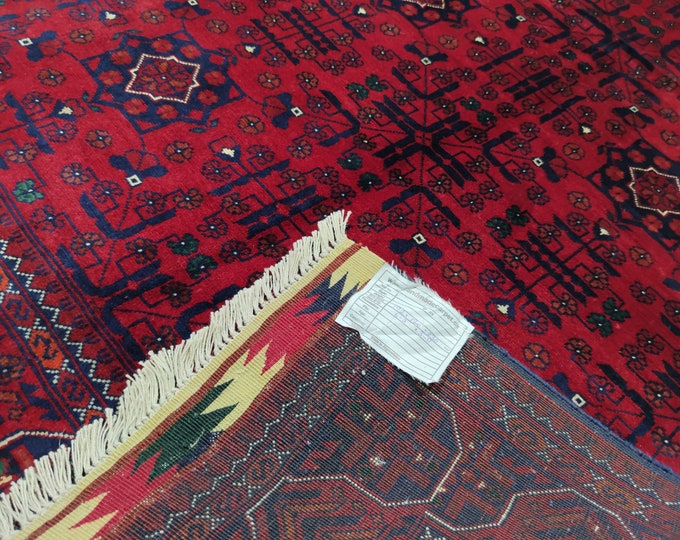Highest quality Double Knotted Beljik Soft Well-made Afghan Merino Handmade Area Rug, Hand-knotted Oriental Bokhara Rug