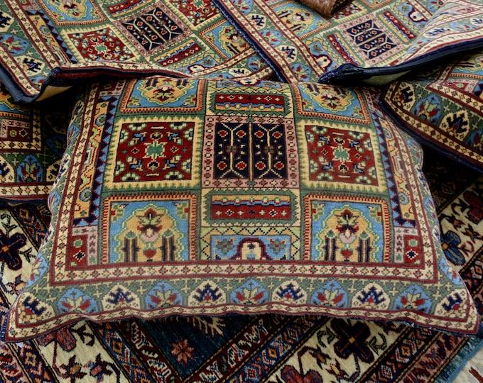 Set of four Pillow Covers | Decorative Pillows | Custom Pillow | Handknotted Pillow Cover | Baluch Pillow | Afghan Pillow | Persian Pillow
