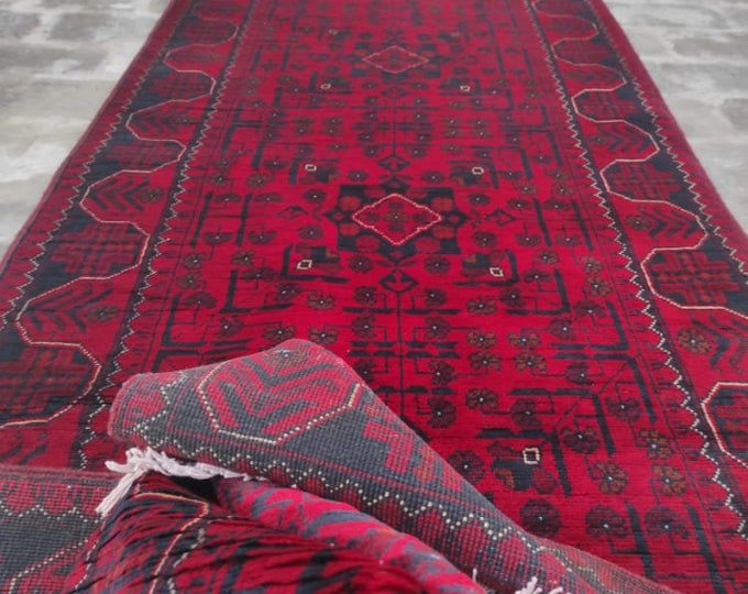 2.46x22 High-quality Afghan Khamyab runner rug, rug, vintage rugs, kilim rug, hand made rug, antique distressed persian rug, large floor rug