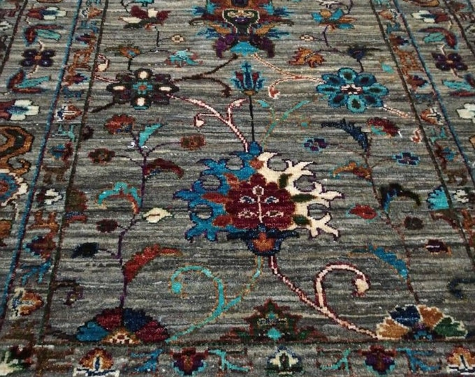 3.4X5 ft, Handmade Afghan Rug, Persian Rug, Turkmen Rug, Bukhara Rug, Wool Rug ,Antique Rug ,Area Rug, Oriental Rug,Turkish Rug,Turkoman rug