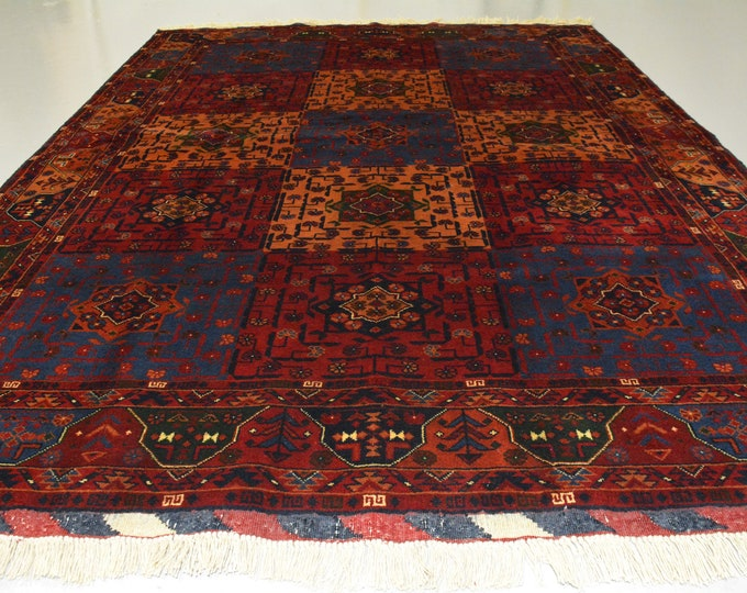 4.3X6 Ft Highest quality Double Knotted Beljik Soft Well-made Afghan Merino Handmade Area Rug, Hand-knotted Fine Rug