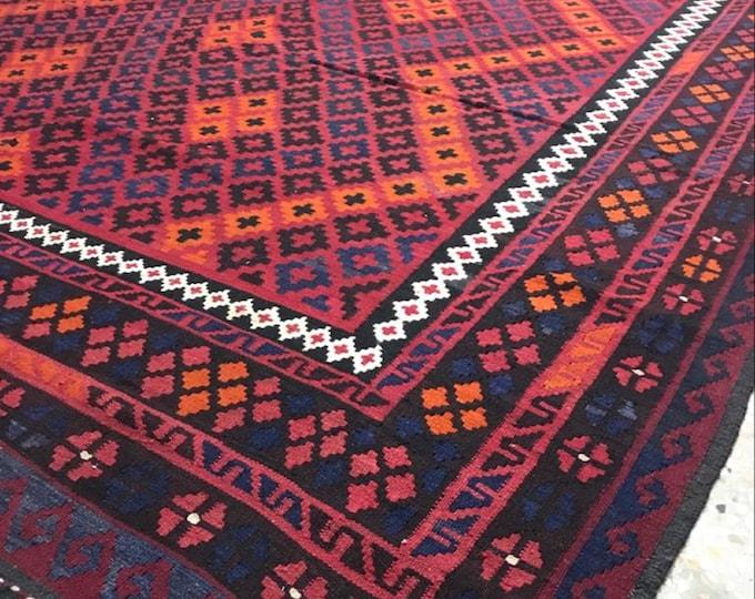 Vintage Rug / Maimana Kilim Rug / Afghan Hand-Woven / Handmade Kilim Rug / Living room Rug / Kilim Rug / Kelim / Vintage / Woollen Rug / Rug