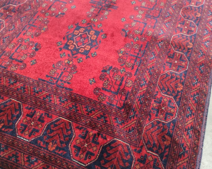 Small Rug Highest quality Double Knotted Beljik Soft Well-made Afghan Merino Wool Handmade Area Rug, Hand-knotted Oriental Bokhara Rug