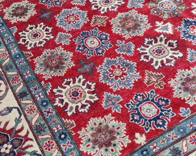 Kazak Rug 8.10X12.2 Ft hooked rugs large, home decor rug, hand made rug, oriental rug, turkish rug, kitchen rug, war rug, abstract rug