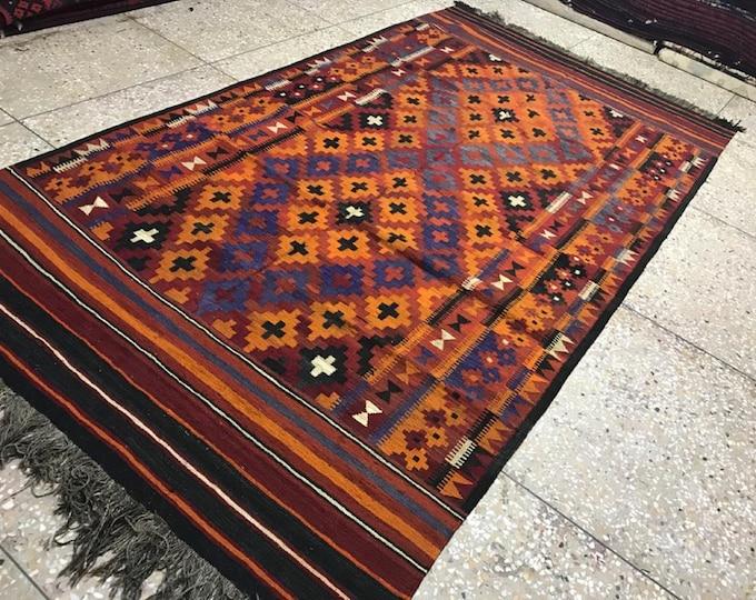 Vintage tribal Afghan best Maimana Wool Large Area Vintage Handmade Afghan Tribal Colorful Rug Vintage Rug Berber Rug Abstract Rug Art Decor