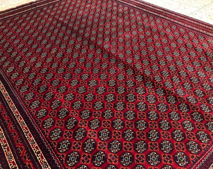 A Piece of Art Extremely Soft to Touch Tightly Knotted Highest Quality Merino Wool Handmade Afghan Rug Khwaja Roshnai Rug