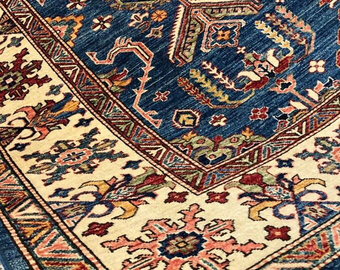 """Afghan Kazak super fine Handmade Kazak Area Rug 6'55"""" X 10"""