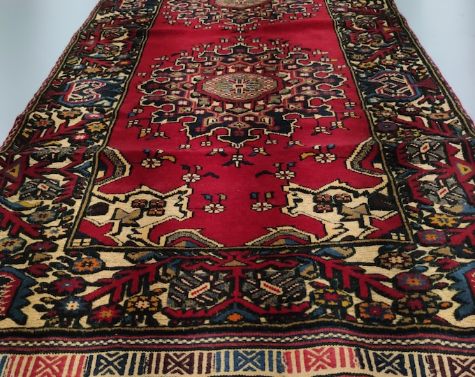 Well-made Runner Barjasta Afghan kilim rug, Bidsize tribal Kilim rug, nomadic Afghan Tribal mushwani kilim rug, 100% wool nomadic kilim rug