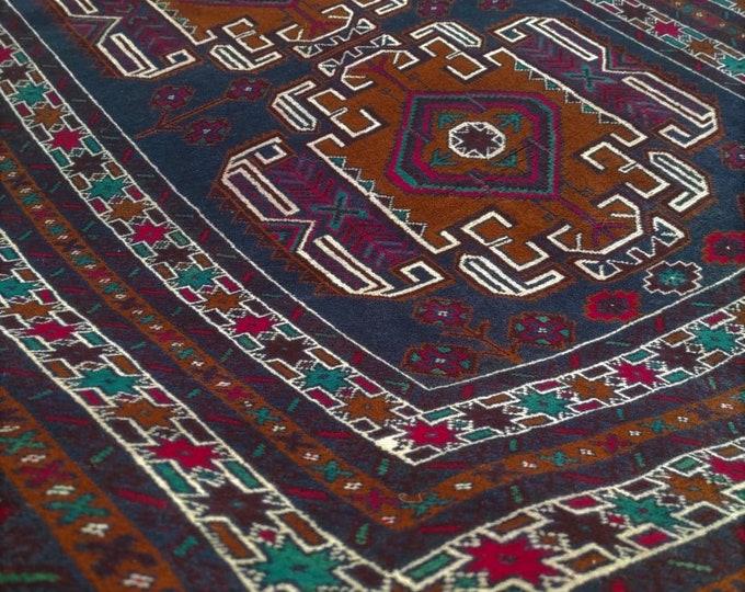 4x7 Afghan rug, turkish rug, turkey rug, kitchen rug, housewarming gift, floor rug, carpet bag purse, war rug, faded rug, bokhara, persian