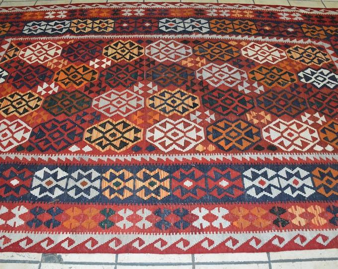 Soft Well-made Afghan Maimana Colorful Rug, Afghan Carpet, Handmade Rug, Floor Mat, Multi Color Rug, Mixed Colors Rug, Khorasanrug