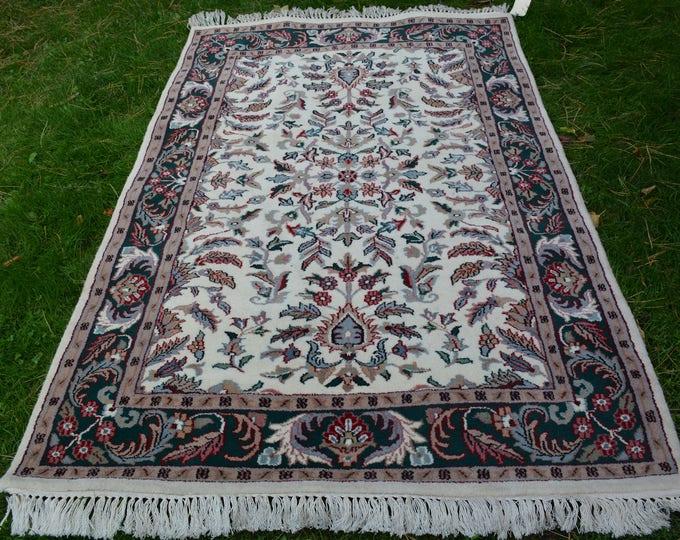 6X4 Indian handmade wool rug Area Rug Kashmir Rug persian Rug Turkish Rug Baluch Rug Afghan Rug Area wool Rug Kilim Turkmen Rug Carpet Rug