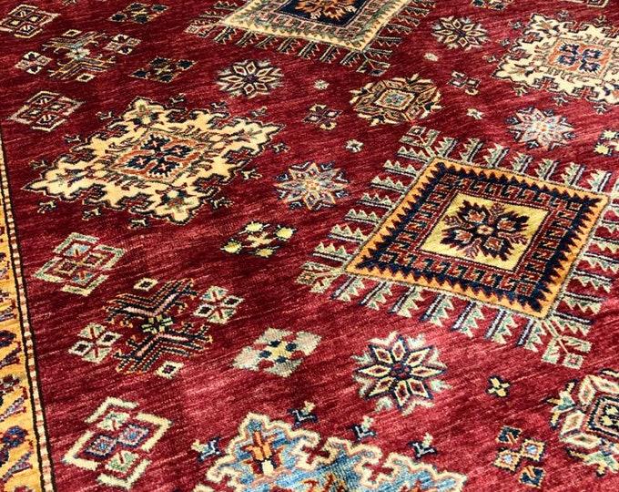 """Afghan Kazak super fine Handmade Kazak Area Rug 6'71"""" X 9'76"""""""