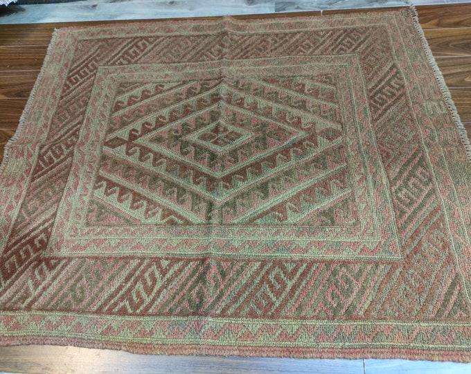 Mushwani Barjasta Afghan Handwoven Kilim Rug, Area Rug, Kilim Rug, Handmade Afghan Tribal Barjasta Vintage 100% wool Traditional Rug