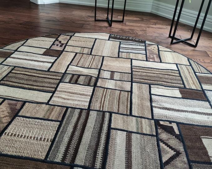 58 antique distressed persian rug, morocco rug, bedroom rug, aztec rug, sheepskin rug, indoor rug, deco -handmade, small rug, circle rug