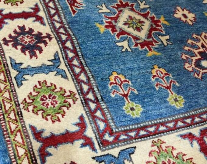 Kazak Rug 4.2X6 Ft | Afghan Caucasian Rug | Area Rug Large | Vintage Rug | Afghan rug | Persian rugs | Turkmen rug | kilim rugs