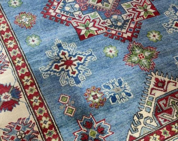 5x7 Handmade Afghan Vegetable Dye Chobi Oushak Carpet, Handmade Rug, Afghan Rug,Oriental, Area Rug, High Quality Hand Knotted