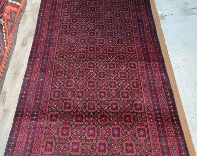 4x7 Afghan rug, aztec rug, morocco rug, baluch rug, hand hooked rugs, office rug, chindi rug, carpet bag purse, vintage flower shape rug