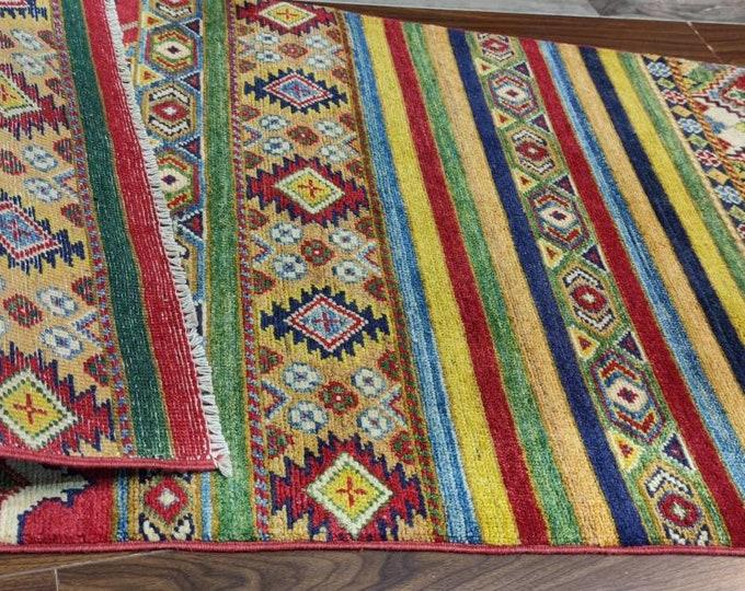 Kazak Rug 2.9X9.9 Ft Afghan Caucasian Rug | Area Rug Large | Vintage Rug | Afghan rug | Persian rugs | Turkmen rug | kilim rugs
