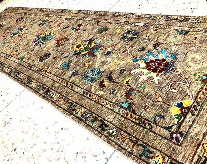 Runner Zeigler Handmade Afghan Rug, Runner Rug, Afghan Rug, High Quality Turkmen Rug, Chobi Rug, Oriental Rug, Turkish Rug, Blue Runner Rug