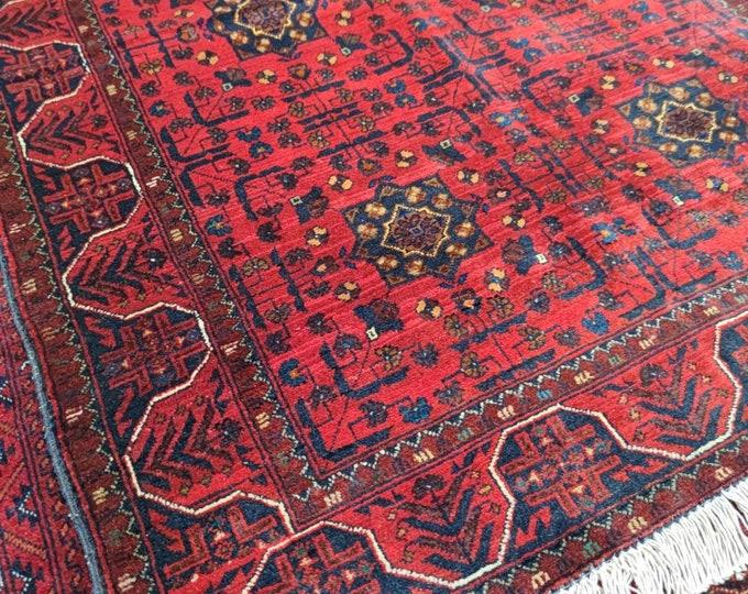 Stunning Brand New Afghan Turkmen Bokhara Soft Well-made Handmade Rug, Bokhara Rug, Handmade Wool Area Rug, High Quality Rug