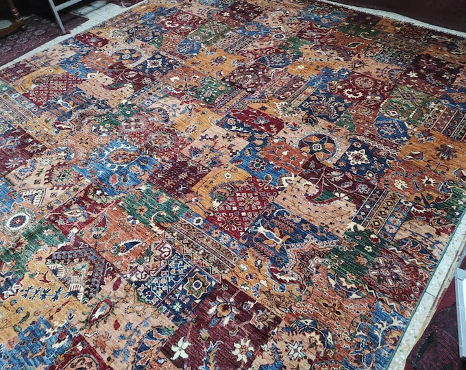 10X14 Ft Excellent Hand-Knotted Turkish Design Brand New Afghan handmade rug, large area rug, tribal rug, red persian rug