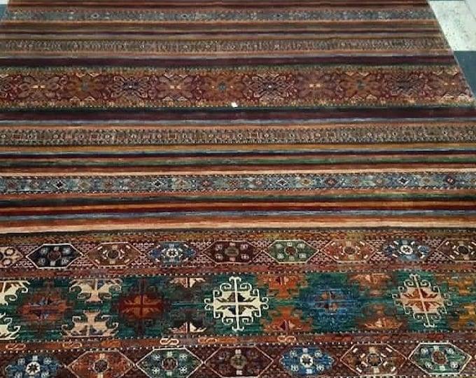 8'72X12 Khorjin Naqsha Excellent Hand-Knotted Turkish Design Brand New Afghan handmade rug, large area rug, tribal rug, red persian rug