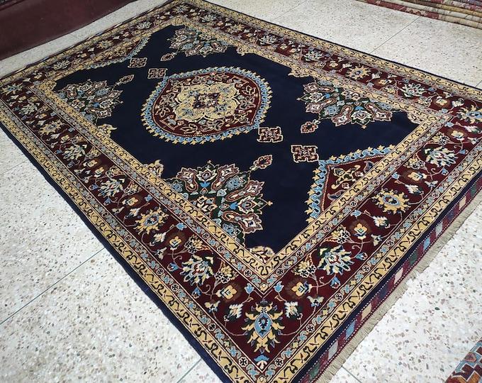 7x10 teal rug, navajo rug, area rug, sumac rug, colorful rug, scandinavian decor, floor rug, bohemian rug, nomadic rug, afghan rugs, blanket