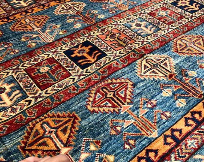 """Afghan Kazak super fine Handmade Kazak Area Rug 5'97"""" X 8'75"""