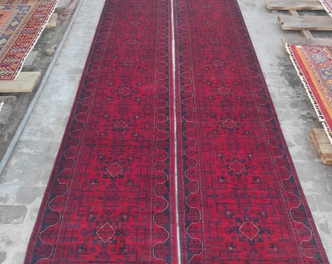 2.5x22 High-quality Afghan Khamyab runner rug, rug, vintage rugs, kilim rug, hand made rug, antique distressed persian rug, large floor rug