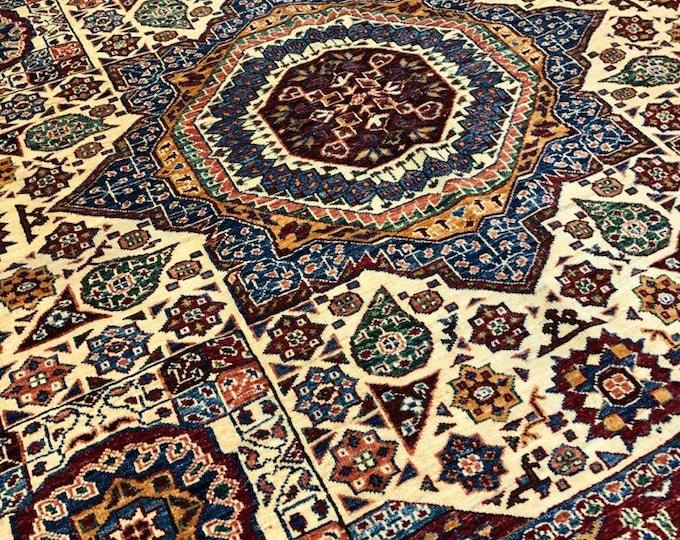 "Handmade Super Kazak Afghan Area Rug 8'43"" X 10'52"""