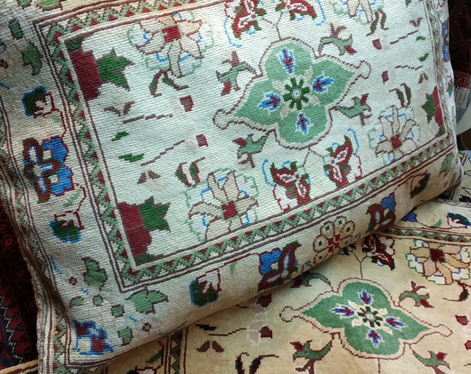 Set of Four Decorative Pillows,Pillow Cover, Beige Pillow, Custom Pillow Afghan Pilloجws ,Handknotted Pillows, Pillows,Handmade Pillow