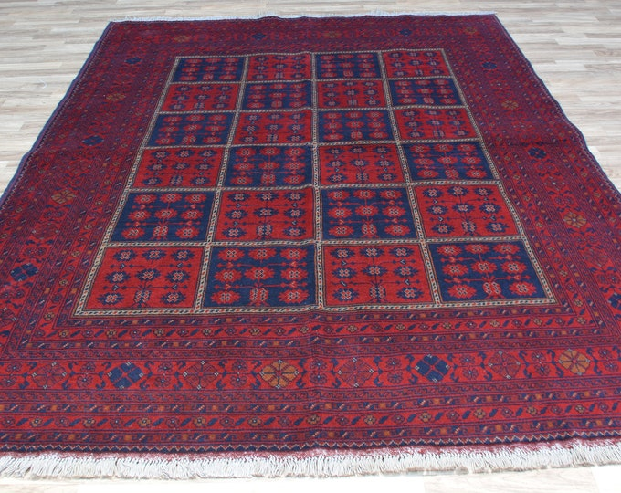 Khalmohamadi Afghan red Rug, Afghan Sumak Rug, Wool Area Rug, Handmade Afghan Tribal Rug, kilim Rug, Home Decor Rug, Afghan Teppich
