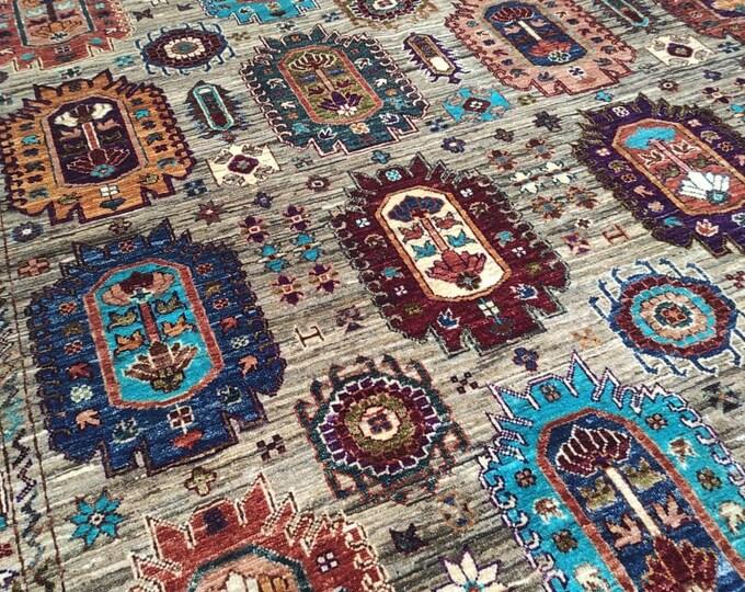 7X10 Rug Hand Knotted Mamluk Design Rug - Area Rug Bedroom - Oriental Living Room Rug - Medallion Dining Room Rugs, Turkish rugs - Persian