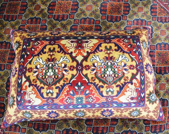 Set of four Persian Pillow Cover | Blue Pillow Cover | Custom Handmade Pillow | | Majlis Pillow | Afghan Pillow Cover | Afghan Pillow Set